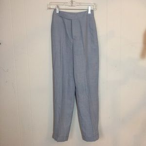 High waist light blue slacks